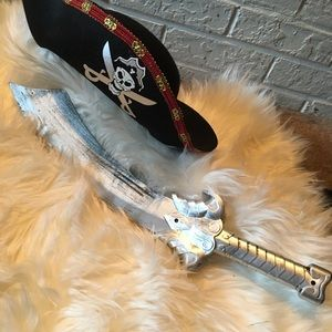 Pirate hat and sword costume Halloween